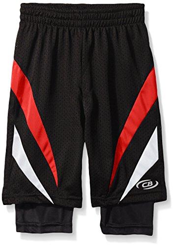 CB Sports Little Boys' 2-fer Athletic Compression Shorts,...