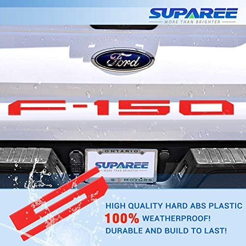 SUPAREE Tailgate Insert Letters for F150 2018-2020 3D Raised Tailgate Decal Letters Red