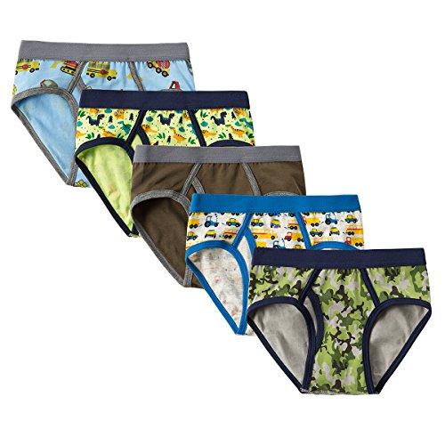 CNBABY Toddler Underwear Spandex Dinosaur Cotton Boys Briefs 5 of (Lycra Boy Brief)