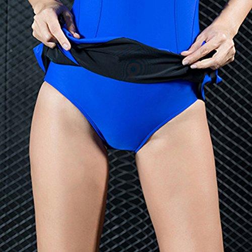 Zhhlinyuan Women Sports Retro Swimsuit Fashion Jumpsuit Beach Bikini Swimwear Royal Blue