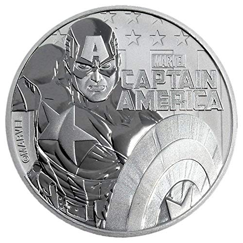 2019 TV 1 oz Tuvalu Captain America Marvel Series Silver Coin Dollar Uncircualted Mint
