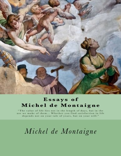 montaigne essays of books