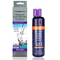 Replacement Refrigerator Water Filter W10295370a,tosima Premium 6 Month200 Gallon Capacity Refrigerator Filter1 Compatible With Whirlpool Maytag Kitchenaid Amana Jenn-air (Purple)