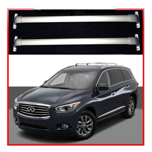 Nova For 2014-17 Infiniti QX60 OE Style Factory Bolt-on Roof Rack Cross Bars Set Side Rails Set Luggage Carrier Bar Silver 2014 2015 2016