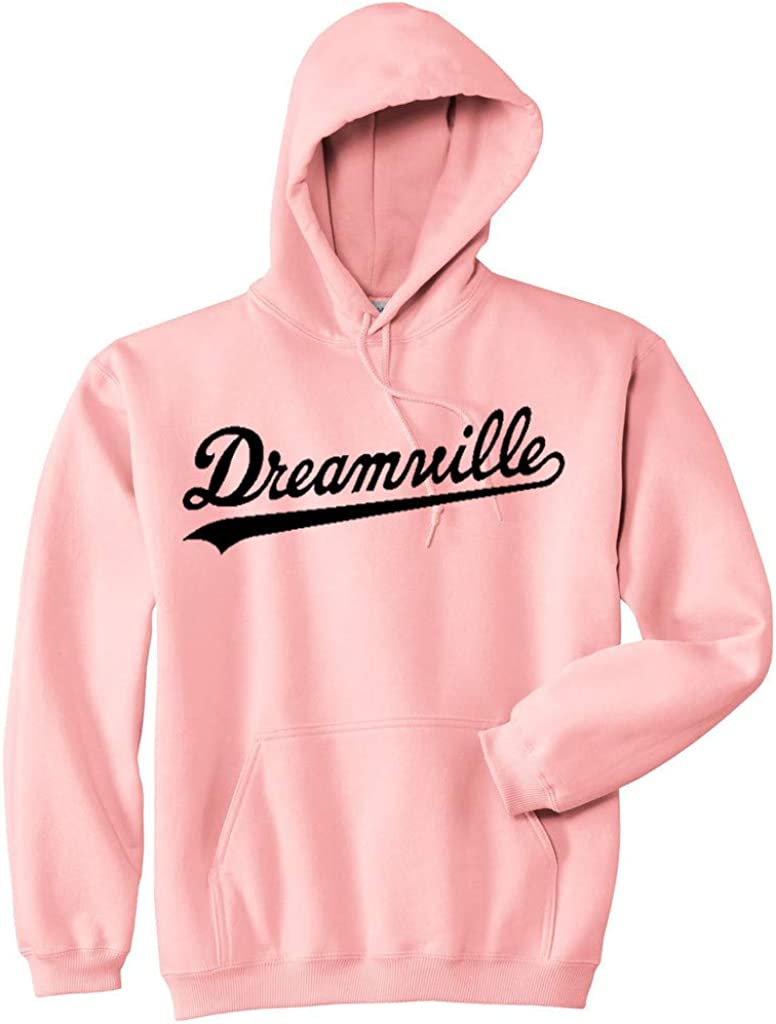 Hoodie Dreamville J Cole Black Hip hop Pullover Fleece Sweater S Pink Light