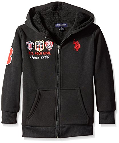 us-polo-assn-big-boys-sherpa-lined-fleece-jacket-with-hood-black-10-12