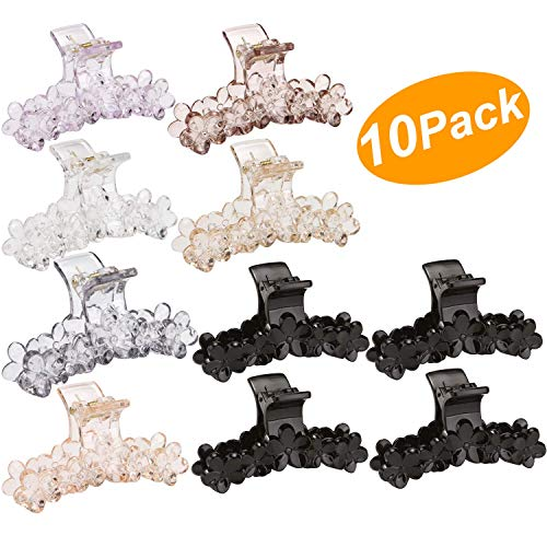 - LONEEDY 10 Pack Flower Plastic Hair Claws Clip for Women Girls, Jaw Clips Hair Barrettes Hair Clips DIY Hair Accessories
