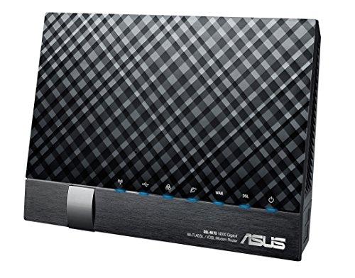 Asus DSL-N17U N300 WLAN-Modemrouter (VDSL2 / ADSL2/2+, 802.11n, EU Multi-Annex Modus, Gigabit LAN, USB 2.0, Serverfunktion) schwarz