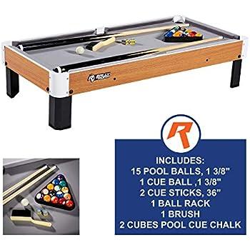 Amazon com: Mini Tabletop Pool Set- Billiards Game Includes