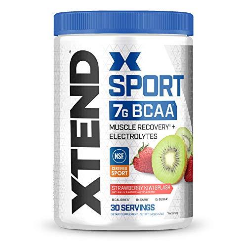 XTEND Sport BCAA Powder Strawberry Kiwi Splash – Electrolyte Powder for Recovery & Hydration with Amino Acids – 30…
