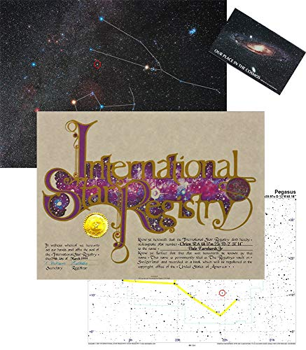 - Star Registry Name A Star Custom Star Kit with Photographic Sky Image