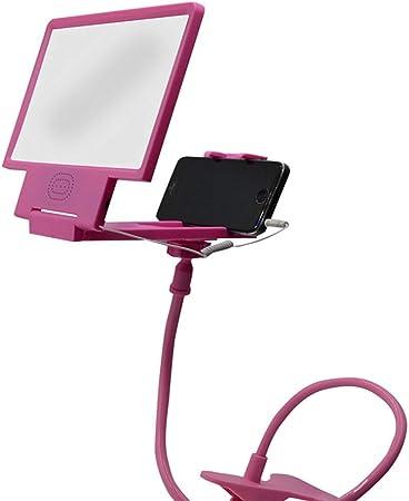 Phil Electronics Lupa De Pantalla para Smartphone 3D Giros Y Estiramientos Libres De 360 ° Soporte Plegable Ligero con Altavoz Radioprotección Adecuado para Interiores Cámping,Pink,17.2 * 10 * 95cm: Amazon.es: Hogar