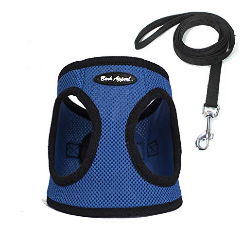 No Pull Harness Pet Vest - Soft Step-in Mesh Puppy Comfort Adjustable Padded Vest EZ Wrap No Choke Design Harness with Leash (X-Large, ()