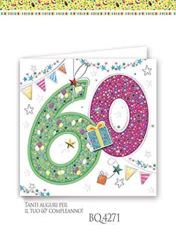 Boutique tarjeta felicitación cumpleaños 60 años cuadrado a ...