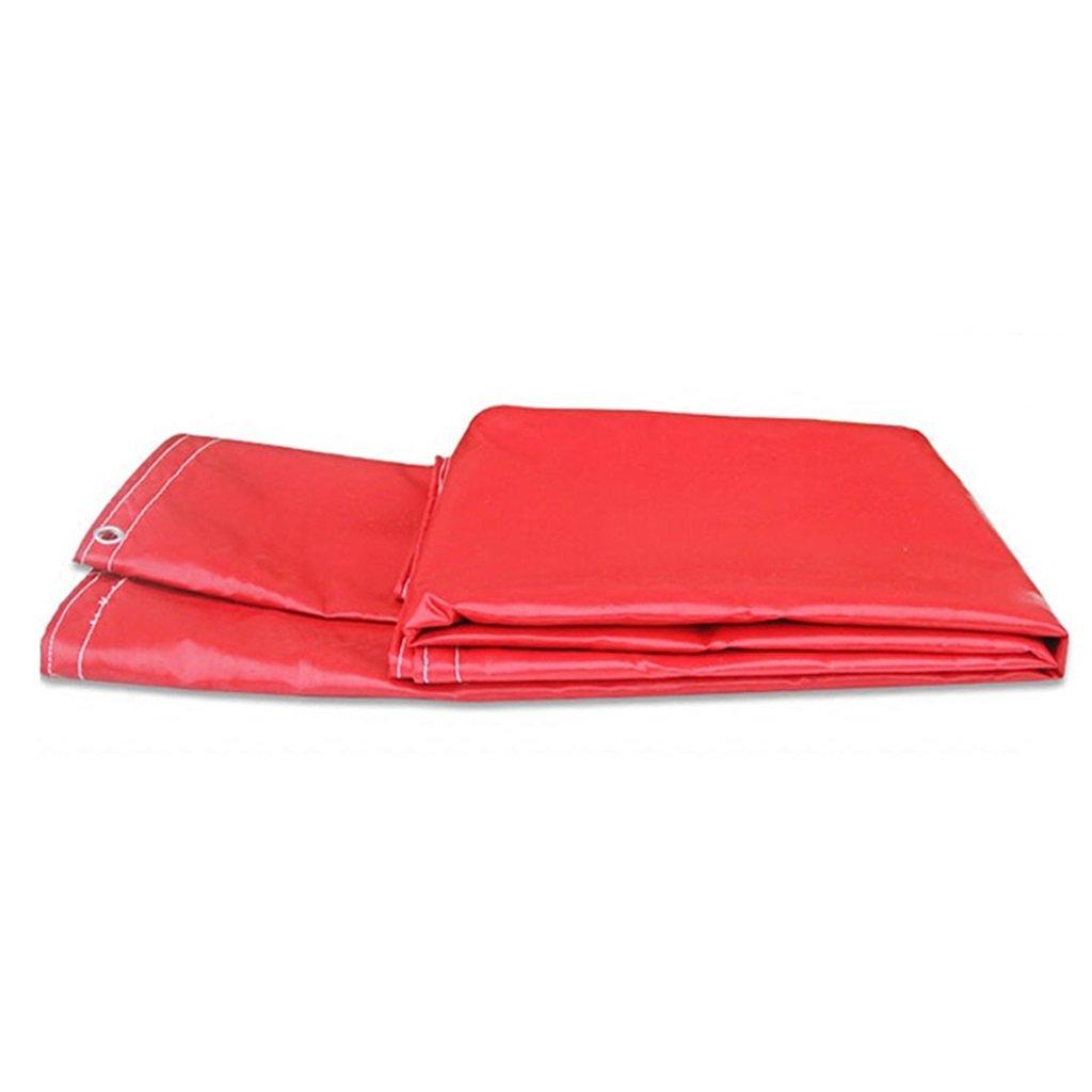 Plane Persenning Rot 100% wasserdichte und UV-geschützte Hochleistungsplane - mit hoher Dichte gewebtes Polyäthylen und Doppeltes lamelliertes, 7 Größen-Wahlen Abdeckplanen (größe   4MX6M) B07PMNYL8Y Zeltplanen Sehr gute Fa