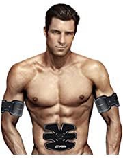 IMATE Professional EMS Abdominal Muscle Toning Belt Home Fitness Training Gear, Vibration Pads for Men and Women to Tone, Loss Weight, Trimmer, Slender, Shaper, Strong