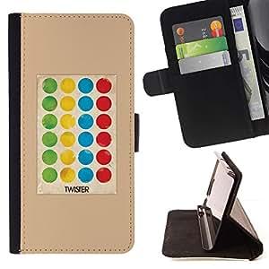 For Apple Apple iPhone 4 / iPhone 4S Case , Juego del punto de polca de la torcedura Niños- la tarjeta de Crédito Slots PU Funda de cuero Monedero caso cubierta de piel