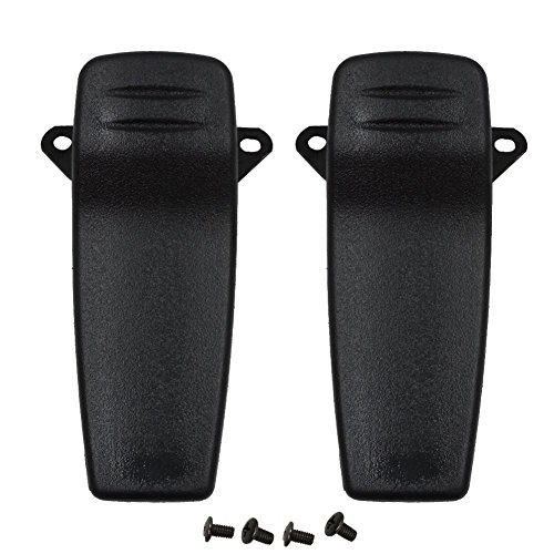 F21 Radio - KENMAX Handheld Two Way Radio Black Belt Clip with Screws for ICOM F3 F4 F11 F21 (2 Packs)