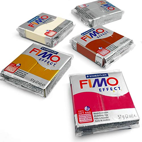 - FIMO Effect Polymer Oven Modelling Clay - 57g - Set of 5 - Metallic Finish