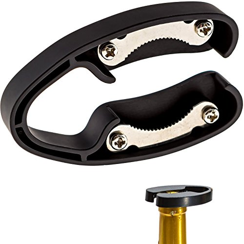 2 Pack Premium Dual Blade Wine Foil Cutter – Wine Bottle Opener Accessory – Gift for Wine Lovers by HQY (Black &White)