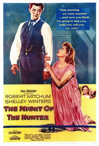 The Tenebrosity of the Hunter Framed Poster Movie 27 x 40 Inches - 69cm x 102cm Robert Mitchum Shelley Winters Lillian Gish Don Beddoe