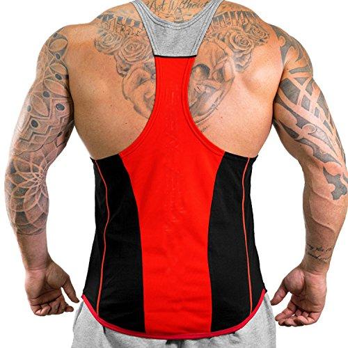 Sportiva Athletic Black Fitness Uomo Red2 Canotta White Per Gli Da Amanti Del ffwFO
