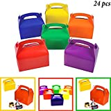 Best Bag For Parties - Adorox 24 Assorted Bright Rainbow Colors Cardboard Favor Review