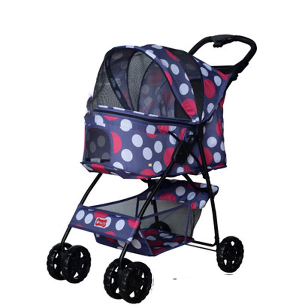 Pet Trolley Four Wheel Light Folding Pet Car Cat Dog Trolley