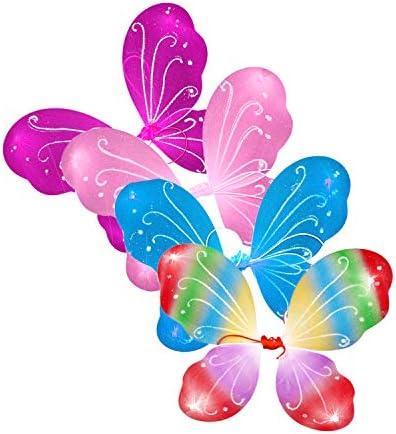 Lustig Kinder Schmetterlingsflügel Angel Fee Flügel Party Festival Kinder NEU