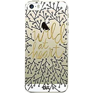 DailyObjects Wild At Heart Black Gold White Clear Case For iPhone SE