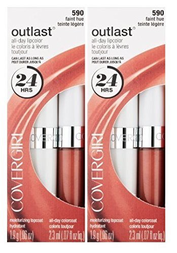 CoverGirl Outlast All Day Lipcolor #590 Faint Hue 2 Pack ()