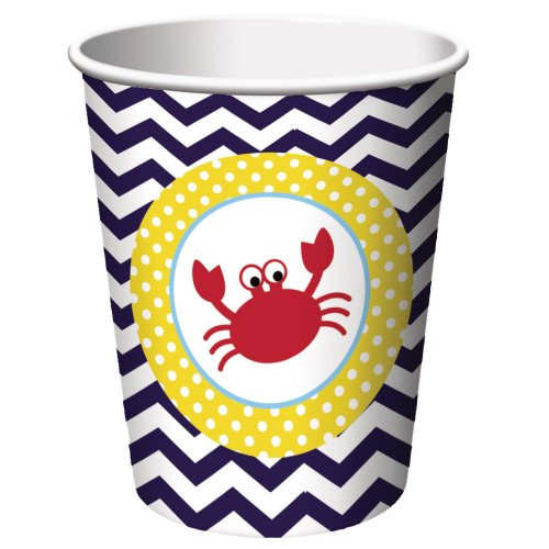 Creative Converting 8 Count Ahoy Matey Hot/Cold Paper Cups, 9-Ounce