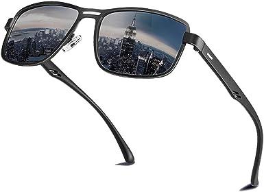Oferta amazon: Gafas de sol polarizadas para hombres y mujeres; marcos vintage/clásicos/elegantes; objetivos de alta definición; Golf/Conducción/Pesca/Deportes al aire libre/Gafas de sol de moda