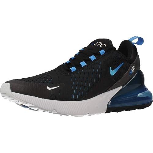 Nike Air MAX 270 Ah8050 019 para Hombre, BlackBlue Fury