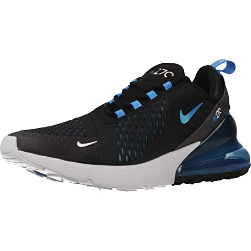 sale retailer 3d401 c12e0 Nike Mens Air Max 270 Running Shoes Black/Photo Blue/Pure Platinum  AH8050-019 Size 10