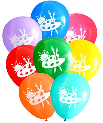 Nerdy Words Art Party Balloons (16 pcs) Assorted Colors -