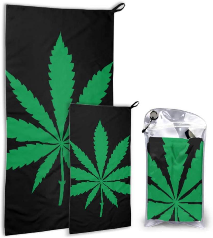 JOCHUAN Marihuana Leaf of Cannabis 2 Pack Microfiber Mens Towel Lady Beach Toallas Set de Secado rápido Lo Mejor para el Gimnasio Viajes Mochileros Yoga Fitnes