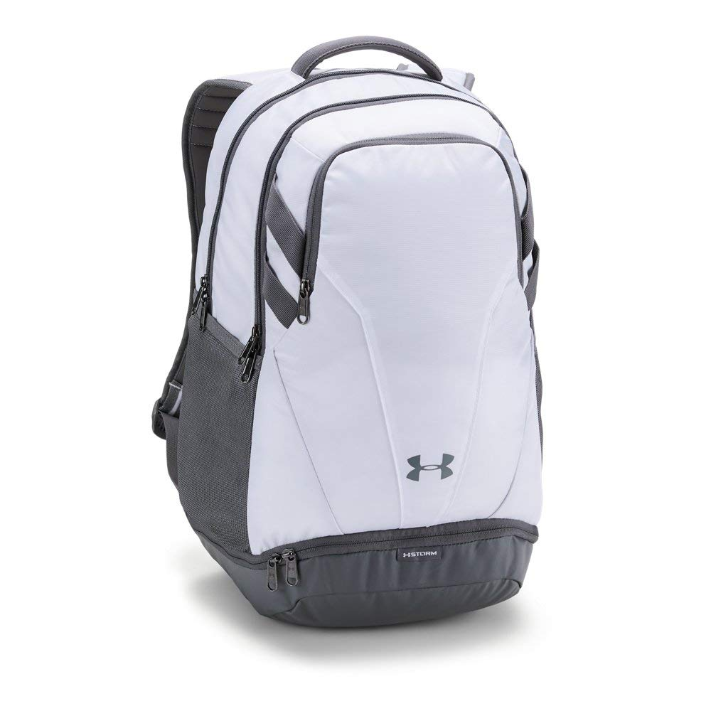 Under Armour Team Hustle 3.0 Backpack, White (100)/Gray, One Size Fits All by Under Armour