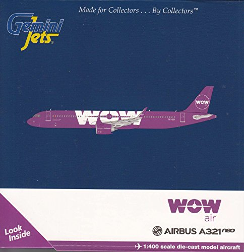 Gemini Jets Wow Air A321neo TF-Sky 1:400 Scale Diecast Model Airplane