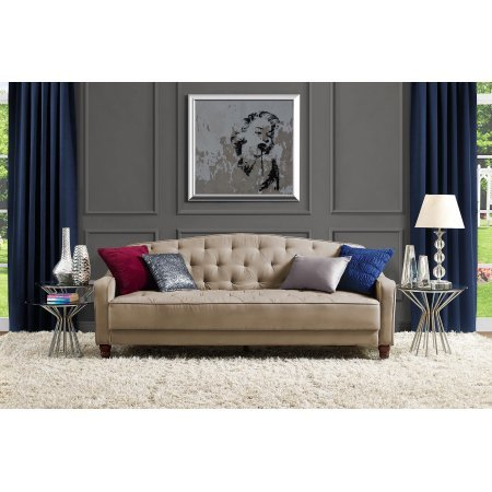 Amazon.com: 9 by Novogratz Vintage Tufted Sofa Sleeper II ...