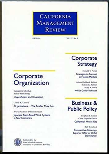 California Management Review (Fall 1994) (Vol  37): Samantra