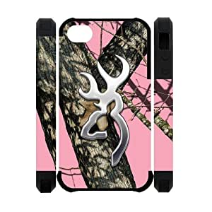 Browning Cutter Logo Pink Camo Case For Sumsung Galaxy S4 I9500 Cover On Your Style Christmas Gift Cover Case