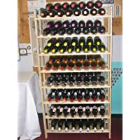 Estante de vino de madera rústica de 120 botellas; Súper FÁCIL de montar !! (Hecho en Oregon)