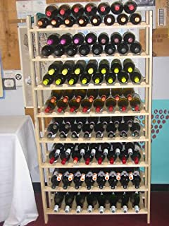 120 Bottle Rustic Wood Wine Rack; Super EASY to assemble!! (Made in