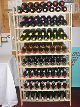 120 Bottle Rustic Wood Wine Rack Super EASY to assemble Made in Oregon
