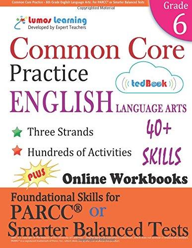 Amazon.com: Common Core Practice - 6th Grade English Language Arts ...