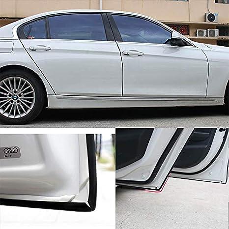 Color : Black Conjunto de puerta de coche Borde Protector de goma anti colisi/ón protecci/ón del rasgu/ño de puerta de coche de goma de sellado tiras de etiqueta Protector puertas coche Ara/ñazos 5M