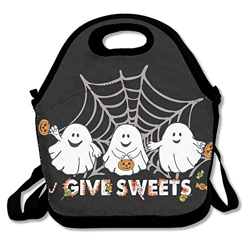New Fashion Women Men Lunch Totes Bags Halloween Ghost Lunchboxes Convenience For Out Food Storage Bag Lunchbox Personalized Portable Carry ()