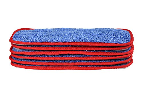 CleanAide All Purpose Twist Yarn Microfiber Mop Pads 10 Inches Red 6 (10 Inch Mop)