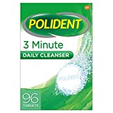 Polident 3 Minute Daily Denture Cleaner Triple Mint Fresh 96 Tabs